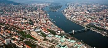 Helicopter Flight over Budapest